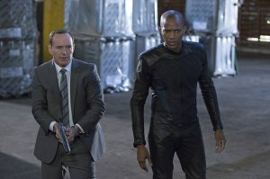 "In a shocking cliffhanger episode, Coulson takes the war back to Centipede, and this time he brings in Mike Peterson for some super-soldier support. As they get closer to the truth, startling secrets are revealed and an unexpected twist threatens the team, on ""Marvel's Agents of S.H.I.E.L.D.,"" TUESDAY, DECEMBER 10 (8:00-9:01 p.m., ET) on the ABC Television Network. (ABC/Justin Lubin)"