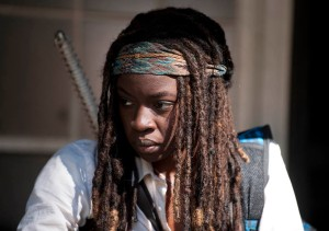 Michonne (Danai Gurira) - The Walking Dead _ Season 4, Episode 11 - Photo Credit: Gene Page/AMC