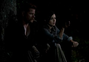 Abraham (Michael Cudlitz) and Tara (Alana Masterson) - The Walking Dead _ Season 4, Episode 15 - Photo Credit: Gene Page/AMC