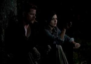 Abraham (Michael Cudlitz) and Tara (Alana Masterson) - The Walking Dead _ Season 4, Episode 15 - Photo Credit: Gene Page/AMC
