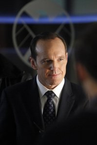 "MARVEL'S AGENTS OF S.H.I.E.L.D. - ""End of the Beginning - Agents Garrett (Bill Paxton) and Triplett are back to help Coulson's team track down S.H.I.E.L.D.'S nefarious enemy - the Clairvoyant. But will Deathlok destroy them all to protect his master's identity? ""Marvel's Agents of S.H.I.E.L.D."" airs TUESDAY, APRIL 1 (8:00-9:01 p.m., ET) on the ABC Television Network. (ABC/Kelsey McNeal)"